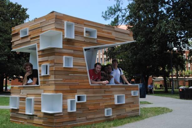 wooden kiosk plans