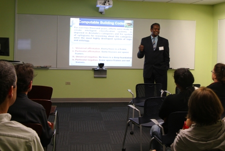 Professor Nawari presents at the DCP Research Showcase