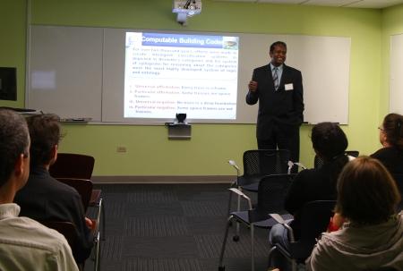 Professor Nawari presents at the DCP Research Showcase